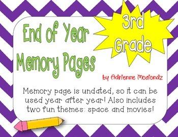 Third Grade Memory Page Packet