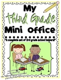 Third Grade Mini-Office {Dolch sight words, Comprehension, Writing, and Math}