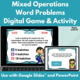 Mixed Operations Word Problems Digital Game and Activity