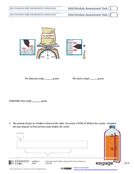 Third Grade Modified Mid-Module 2 Assessment