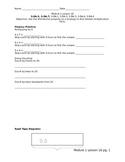 Third Grade Module 1 Lesson 16 Worksheets