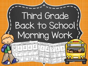 Third Grade Morning Work