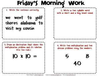 Third Grade Morning Work (2nd Nine Weeks)