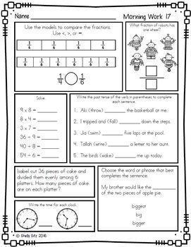 Third Grade Morning Work Bundle