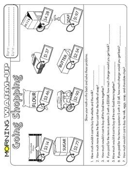 Third Grade Morning Work CC Sample
