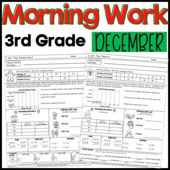 Third Grade Morning Work: December