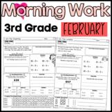 Third Grade Morning Work: February