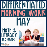 Third Grade Morning Work For May Differentiated