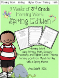 Third Grade Morning Work: Higher Order Thinking and More