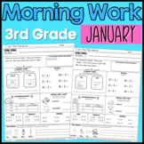 Third Grade Morning Work: January