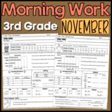 Third Grade Morning Work: November