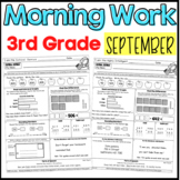 Third Grade Morning Work: September