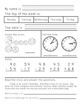 Third Grade Morning Work Weeks 19-41 No Date Printed - com