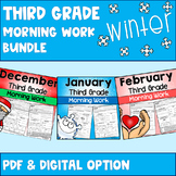 Third Grade Morning Work Winter Bundle (PDF and New TpT Di