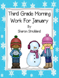Third Grade Morning Work for January- Common Core Aligned