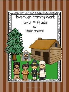 Third Grade Morning Work for November-Common Core Aligned