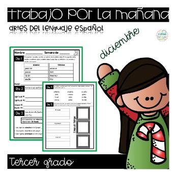 Third Grade Morning Work in Spanish  (September - May)
