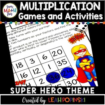 Multiplication Facts, Games, Centers Third Grade Common Core