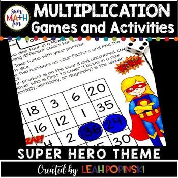 Third Grade Multiplication Centers Common Core