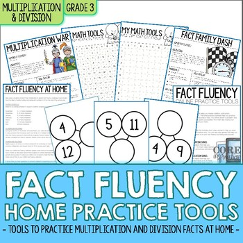 Third Grade Multiplication Division Fact Fluency Home Practice Tools
