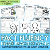 Third Grade Multiplication & Division Fact Fluency Home Practice Tools