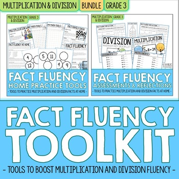 Third Grade Multiplication & Division Fact Fluency Toolkit | BUNDLE