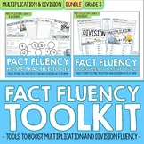 3rd Grade Multiplication and Division Math Facts Fluency BUNDLE