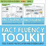3rd Grade Multiplication & Division Math Facts Fluency BUNDLE