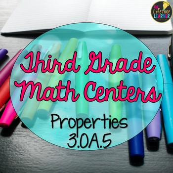 Third Grade Multiplication Properties Math Centers