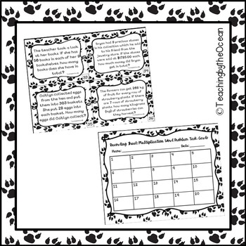 Third Grade Multiplication Word Problem Task Cards