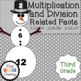 Grade 3 - Multiplication and Division Snowmen Related Facts