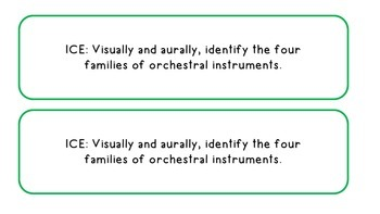 """Third Grade Music """"I CAN"""" Statements"""