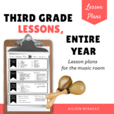 Music Lesson Plans for Third Grade, Entire Year {Bundle}