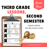 Music Lesson Plans for Third Grade, Second Semester