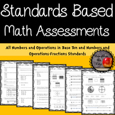 Third Grade NBT and NF Standards Based Math Assessments