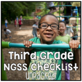 Third Grade NGSS Next Generation Science Standards Checkli