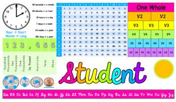 Editable Desktags- Third Grade Resource Nameplates