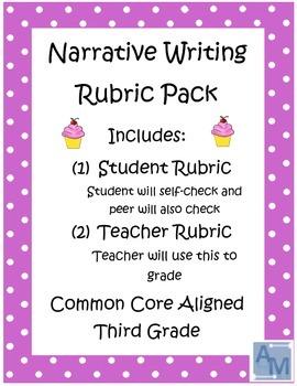Third Grade Narrative Writing Rubrics