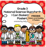 Third Grade NGSS I Can Statement Posters