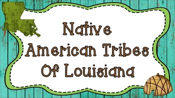 Third Grade Native American Tribes of Louisiana Presentation and Printables Pack