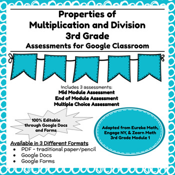 Third Grade Math Assessment/Test Prep (Multiplication and Division)