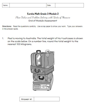 Third Grade Math Assessment/Test Prep (Place Value and Problem Solving)
