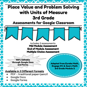 Engage NY Third Grade New York State Math Module 2 Assessment