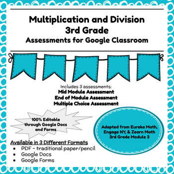 Engage NY Third Grade New York State Math Module 3 Assessment