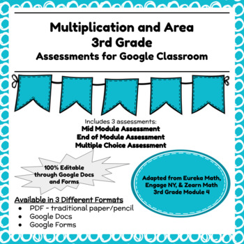Engage NY Third Grade New York State Math Module 4 Assessment