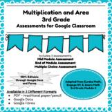 Third Grade Math Assessment/Test Prep (Area)