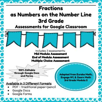 Third Grade Math Assessment/Test Prep (Fractions)