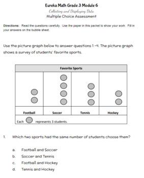 Third Grade Math Assessment/Test Prep (Collecting & Displaying Data)
