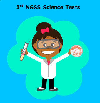 Third Grade Next Generation Science NGSS Assessment bundle