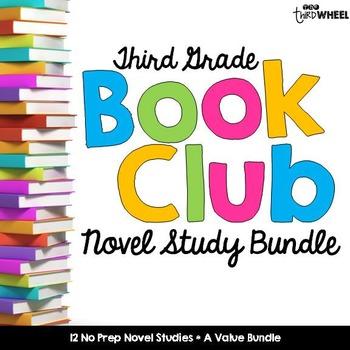 Third Grade No Prep Novel Study Trifold Bundle